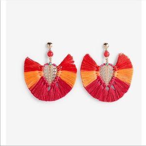 Express Ombre tassel Filigree Statement earring